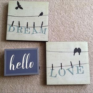 Other - 2 Baby Room Pictures Framed Hangings Love Dream